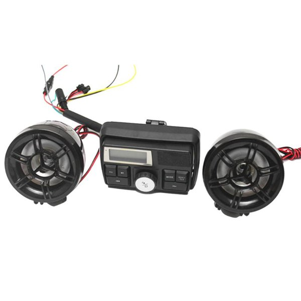 Alarma de motocicleta de 3 pulgadas Sistema de sonido a prueba de agua Radio FM Altavoces estéreo de MP3 Sistema de alarma antirrobo con ranura USB SD para automóvil