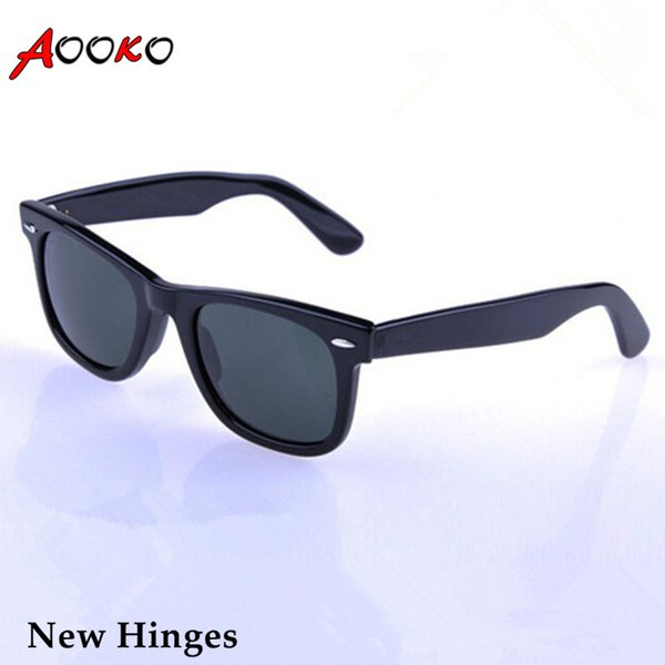 AOOKO Hot Sale Men Glass Gray Dark Green lens Sun Glasses Outdoor UV Protection Women oculos de sol masculino Sunglasses 50/52/54mm