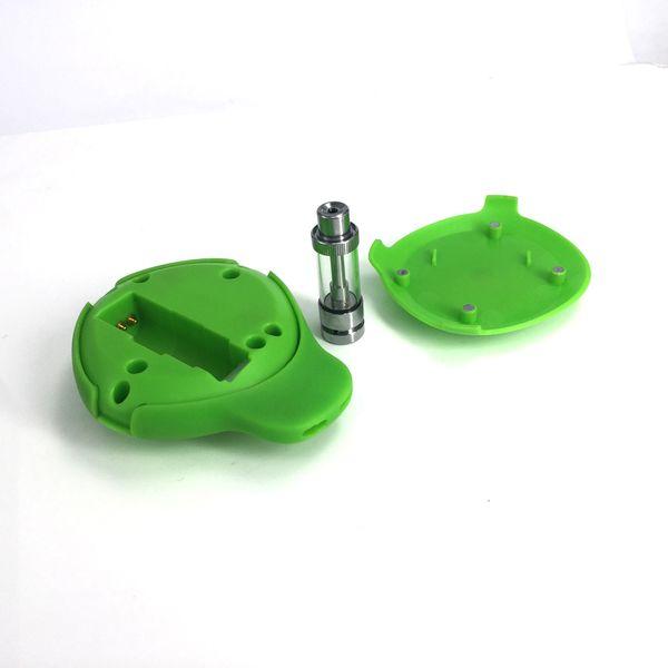 Ecig Tanque de Fumar Imini Cube Starter Kit 550 mAhh Voltage Bateria Ajustável Vape Box Mod com 1.0 ml de Vidro Cartuchos de bobina De Cerâmica