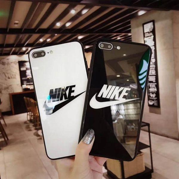 Per iPhone XR MAX 8 6 6S 7 plus Custodia rigida per telaio in TPU di lusso Custodia in vetro temperato resistente al calore 9H di lusso Custodia posteriore antiurto