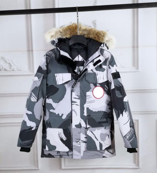 Winter canada mens cotton goose down jackets fashion Goose windproof coat outdoor sport jacket thick velvet high quality man warm clothes