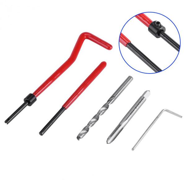 Prix usine 30 pièces M5 / M6 / M8 Kit d'insertion de réparation de fil Compatible ensemble d'outils à main pour réparation automatique outil de réparation