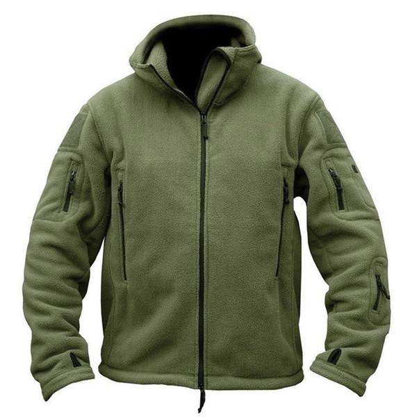 Mens Autumn Winter Fleece Zipper Hoodies Long Sleeve Hooded Sweatshirt Tactical Military Tracksuit Jacket Outerwear Coat for Men T190906