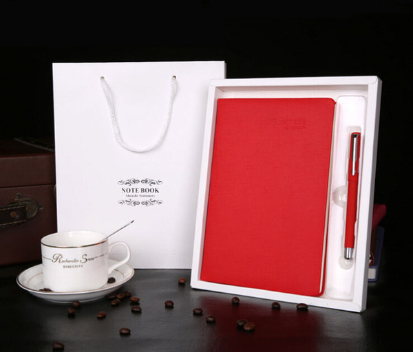 A5 notebook custom creative PU leather notebook business office notebook set custom logo creative gift notebooks