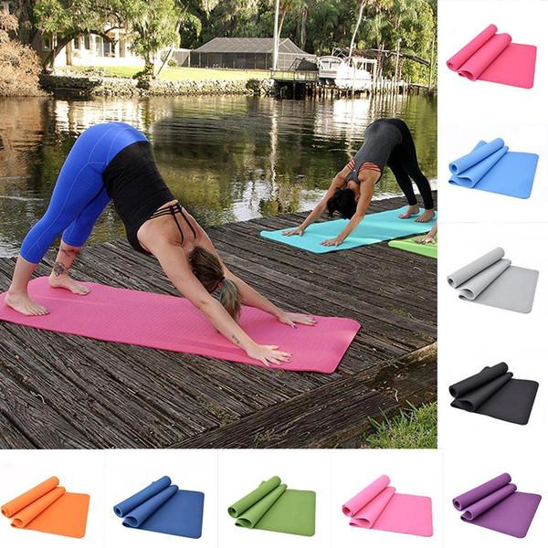 Толстый нескользящий коврик для йоги фитнес-комфорт весь сезон пена твердый безвкусный тренажерный зал упражнения колодки