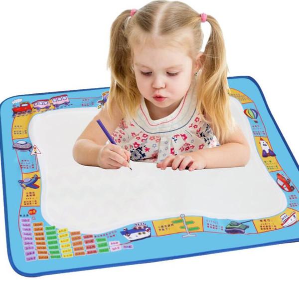 2019 Factory Wholesale-New Aqua Doodle Children's Drawing Magic Water Canvas Mat Educational Toy 1 Mat+ 2 Water Drawing Pen 30*25cm S19JS233