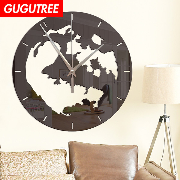 Decorate Home 3D number mirror clock art wall sticker decoration Decals mural painting Removable Decor Wallpaper G-16