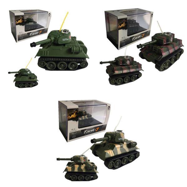Mini carri armati RC Radiocomando 4CH Telecomando per auto Giocattoli a LED per bambini Natale Multi colori Nuovo 36fx D1