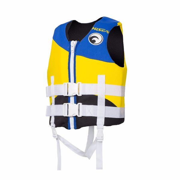 Kids Swim Vest EPE Foam Neoprene Life Vest Boys Girls Blue Swimwear Swim Life Jacket for Beach Drifting Survival Jackets