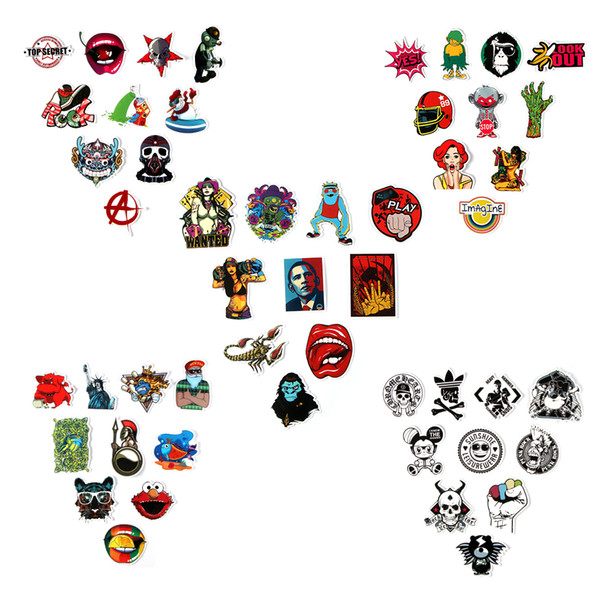 50pcs Funny Car Stickers on Motorcycle Suitcase Home Decor Phone Laptop Covers DIY Vinyl Decal Sticker Bomb JDM