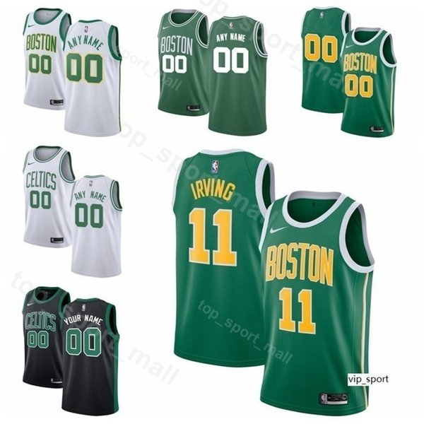 quality design 07f72 e432c 2019 Print Men Youth Women Boston Basketball Kyrie Irving Jersey Jaylen  Brown Jayson Tatum Gordon Hayward Al Horford Green Shirts From Vip_sport,  ...