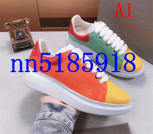 2019 couple models men and women novel color hot sneakers, size 34 to 45 yards factory lowest price, free shipping