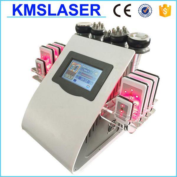 New Pro 6-1 Weight Loss Ultrasonic Vacuum RF Radio Frequency 5mw Diode Lipo Laser Cavitation Slimming Machine