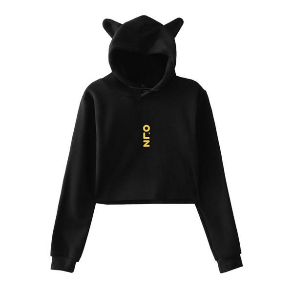 2018 BTS World Exhibition Book Print Casual Hot Sale Tops Cat Crop Women Hoodies Sweatshirts Tops Kpop Size For XXL
