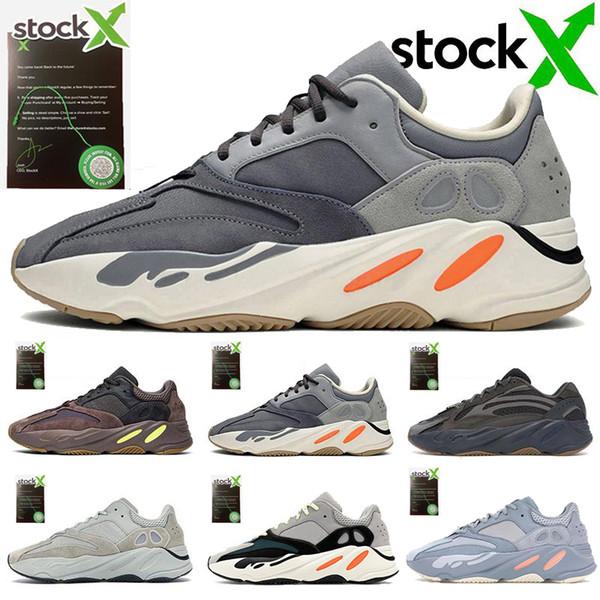 adidas 700 V2 700 coureur de vague 2019 solide gris Hommes mauve Chaussures de course pour la meilleure qualité Kanye West Designers Chaussures Sport Chaussures 36-46 MK5-1