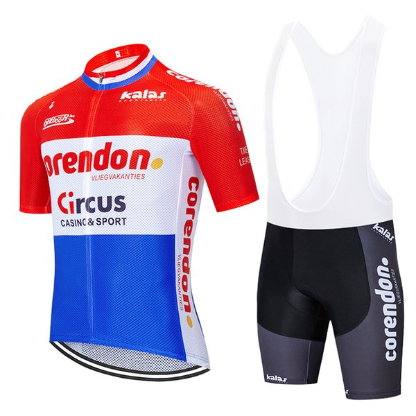 top popular TEAM 2020 Corendon Circus cycling jersey 20D gel pad bibs shorts Ropa Ciclismo quick dry pro cycling wear mens summer bike Maillot Clothing 2019