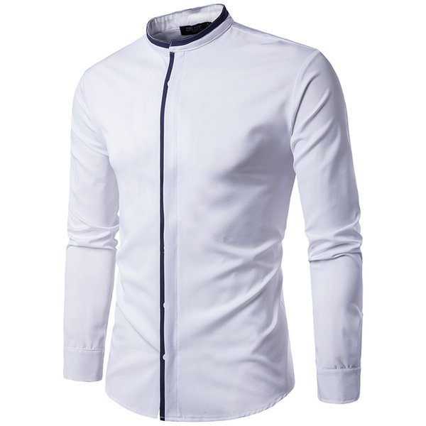 High Quality Men Shirt Long Sleeve Twill Solid Formal Business Shirt Man Dress Shirts