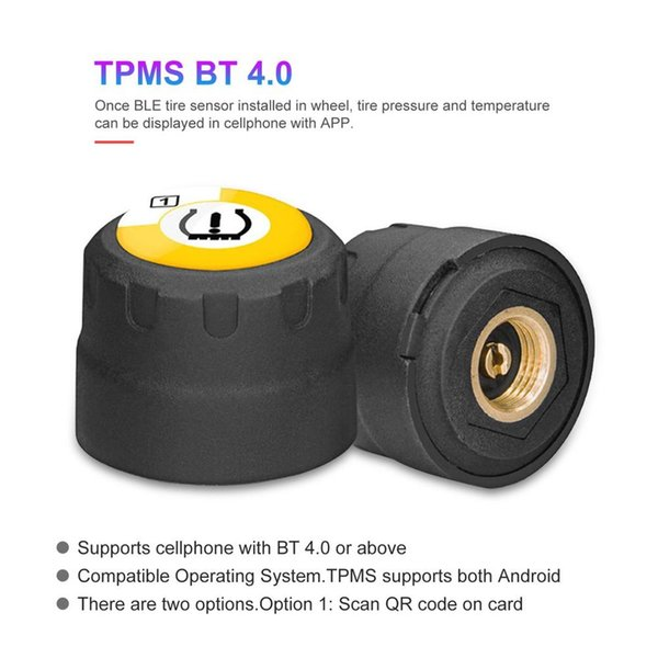 BLE BT 4.0 TPMS Tire Pressure Monitoring System Kit Low Energy For Android and Motorcycle Smart Cellphones