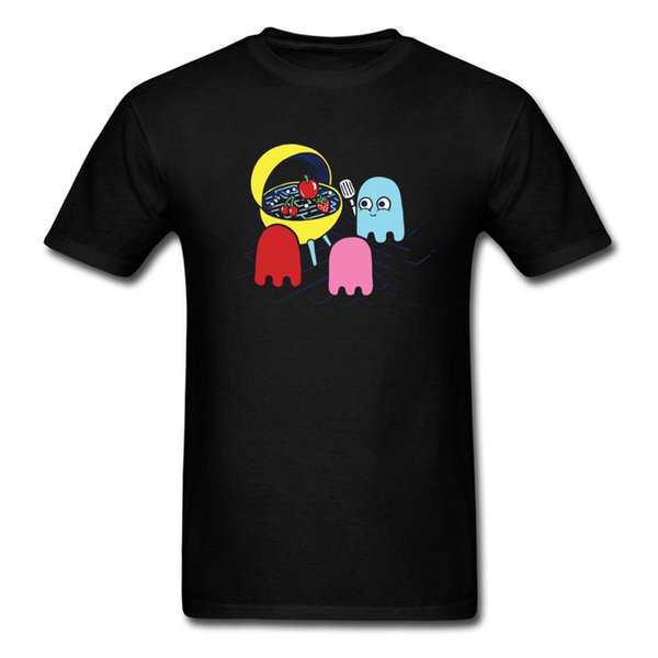 BBQ Time T Shirts Kawaii T-shirt Ghost Tshirt Print For Man Black Clothes Cotton Fabric Father Day Tops & Tees Simple Style
