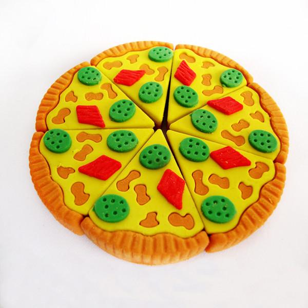 Compre Triángulo Pizza Goma Goma De Borrar Dibujos Animados Animal Borrador Extraíble Kawaii Papelería útiles Escolares Regalo De Juguete Para Niños