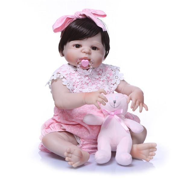 Bebe Reborn Baby Reborn Doll Full Body Doll Silicone Vinyl Adorable Lifelike Toddler Baby Bonecas Girl Kid Doll