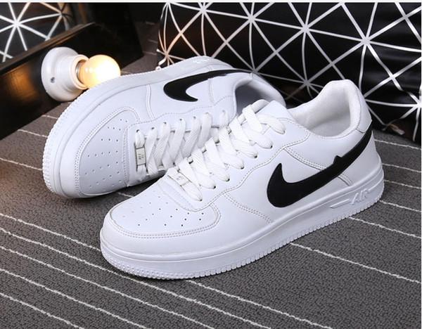 Ücretsiz kargo büyük Boy 36-44 2019 yükseltilmiş versiyonu Yeni Tüm Beyaz Ayakkabı Erkekler ve Kadınlar Moda Rahat Ayakkabılar Moda paten ayakkabı