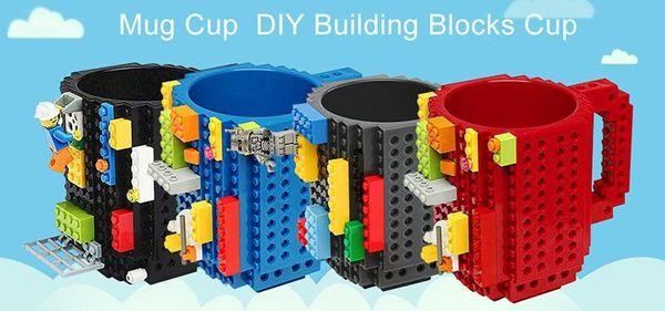 66 Build-On кирпич кружка строительные блоки кружки DIY блок головоломки кружка Build-On кирпич творческая кружка чашка кофе 350 мл творческий декомпрессии чашки 66