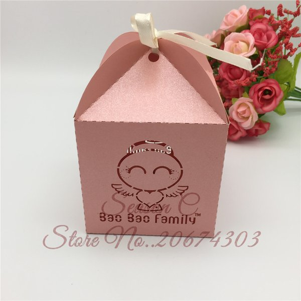 50pcs Angel Laser Cut Wedding Favors Boxes Candy Box Customized Name For Wedding And Party Baby Shower Gift Box Wedding Favors Decor