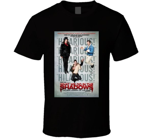 What We DoIn The Shadows Cool Horror Movie Poster Fan T Shirt Size Discout Hot New Tshirt Style Round Style Tshirt