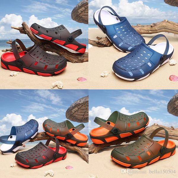 fashion Jelly beach Men Casual Sandals Beach Slippers Male Light Weight Summer Eva Garden Shoes Breathable Hole Men Sandals flip-flops
