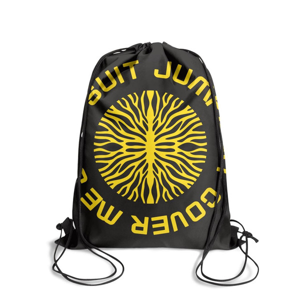 Yellow Twenty One Pilots Band LogoFashion sack belt backpack, design retro character adjustable string package, suitable for sports