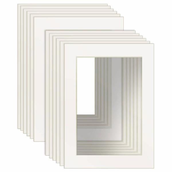 12 шт белый Изображение Маты с основной скос Cut Рама Маттес для 4х6 / 5x7 / 8x10 / 8.5x11 дюймов Картинки рамки украшения