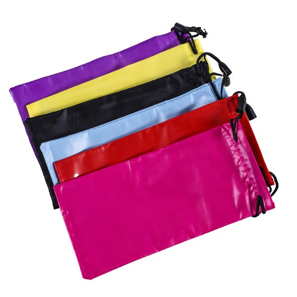 Sunglasses Bags Myopia Customized Glass Case Eyewear Accessories Soft Eyeglasses Bag Solid Color Drawstring Pouch Bags