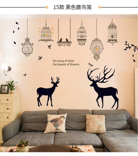 Cheap 2019 Wedding Bedroom Personality Decoration Wall Sticker Paper Living Room Tv Sofa Background Wall Paper Self Sticking Creation Cheap Wedding