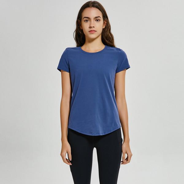 top popular all match lu t yoga shirts tank tops Loose Bodybuilding T Shirt Woman gym sportwear workout yog clothing 2020