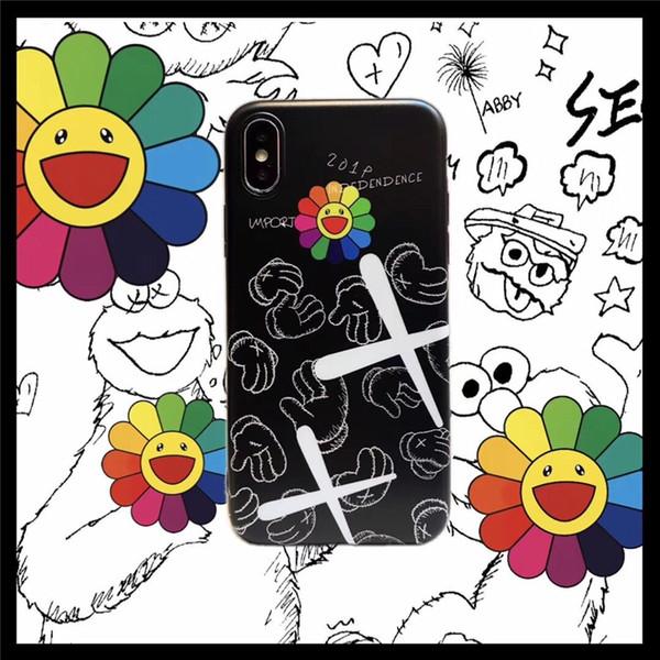 Tasarımcı telefon kılıfı Graffiti 6 S Ayçiçeği 8 artı Apple X cep telefonu kabuk iphonexsmax çift XR erkek ve kadın yumuşak kabuk 7