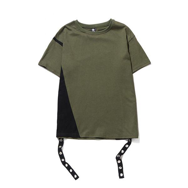 New Arrival Fashion Men's Tops & Tees High Street Patchwork T Shirt Men Hip Hop Streetwear Casual tshirt