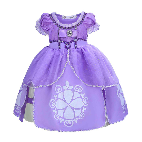 Pettigirl Девушки Sofia Princess костюмы косплей Fairy Princess Pageant Одежда для девочек Туту Платья