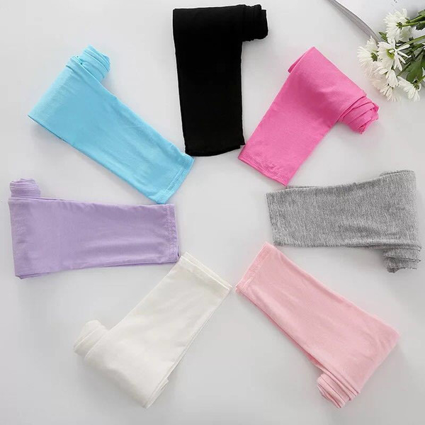 Girls leggings girl pants new arrive Candy color Toddler classic Leggings big children trousers baby kids leggings 7 colors available W9568