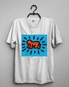 NEW Icons by Keith Haring Design T-SHIRT REPRINT SIZE S-2XL