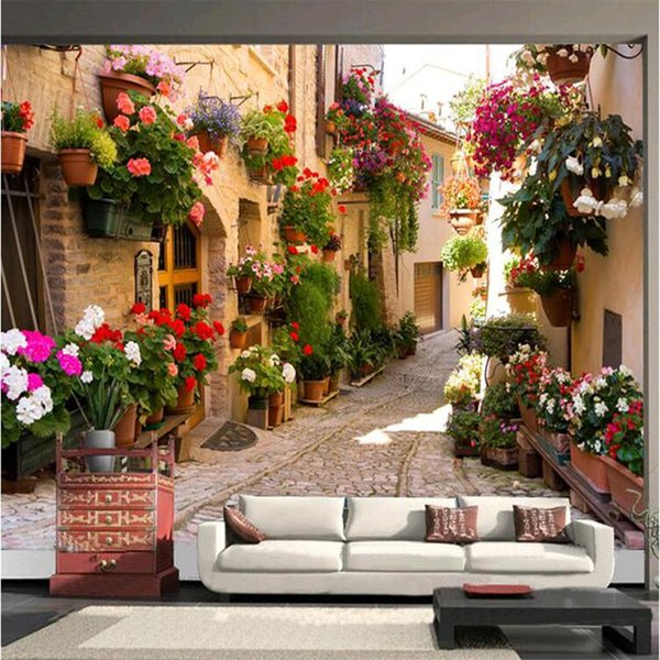-photo wallpaper Continental Mediterranean landscape architecture bedroom living room TV wall painting wall mural wall paper