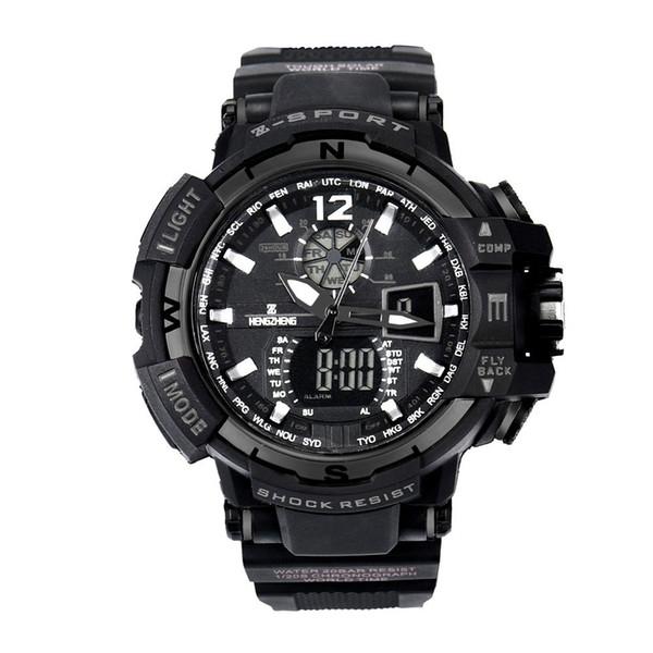 SELFLOVER Mode Luxus Herrenuhr Gummiband LED Digital Sport Wasserdichte Tauchen Quarz Herrenuhr Armbanduhren zegarek