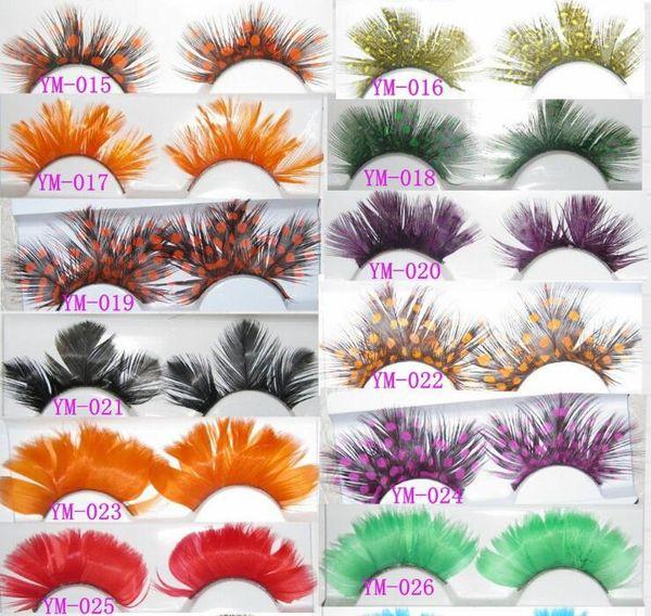 72 Styles Feather Eyelash Extensions Thick False Eyelash Handmade Colorful Fake Eyelash Naturally Soft Lashes Make Up Eye Lashes