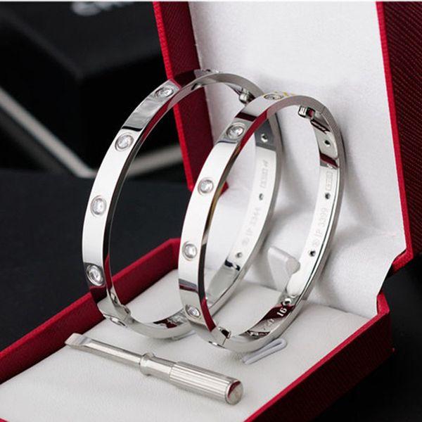 Classic 316L Titanium Steel Lover Bracelets DW Silver Rose Gold Bangles Women Men Screw Screwdriver Cuff Bracelet Couple Jewelry Best Gift