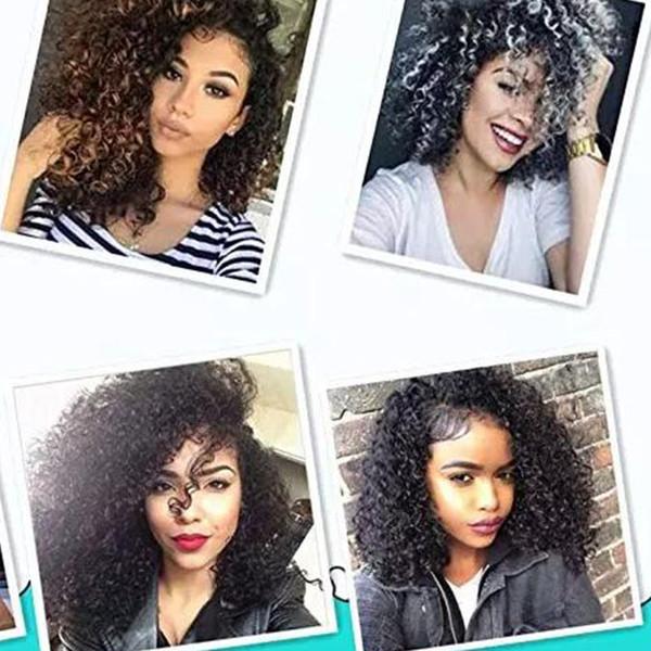 3 teile / satz 8 inch Marlybob häkeln haare synthetische verworrene lockige flechten haare häkeln twist jerry curl flechtenhaarverlängerungen mehr farbe