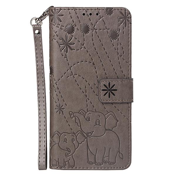 Embossed Elephant leather flip case for Samsung galaxy j3 j4 j5 j6 j7 a3 a5 a7 a9 2017 2018 with Credit card slot wallet shockproof cases