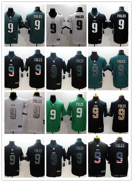 best website 4b013 5cc14 2019 Mens 9 Nick Foles Philadelphia Eagles Football Jersey 100% Stitched  Embroidery Eagles Nick Foles #Rush Football Shirts Awesome Shirts Online ...