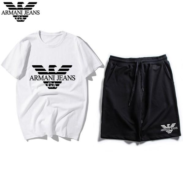 Tute da uomo Sportswear Tute da jogging da uomo T-shirt e pantaloncini a maniche corte Primavera Estate Casual Unisex Set di abbigliamento sportivo di marca