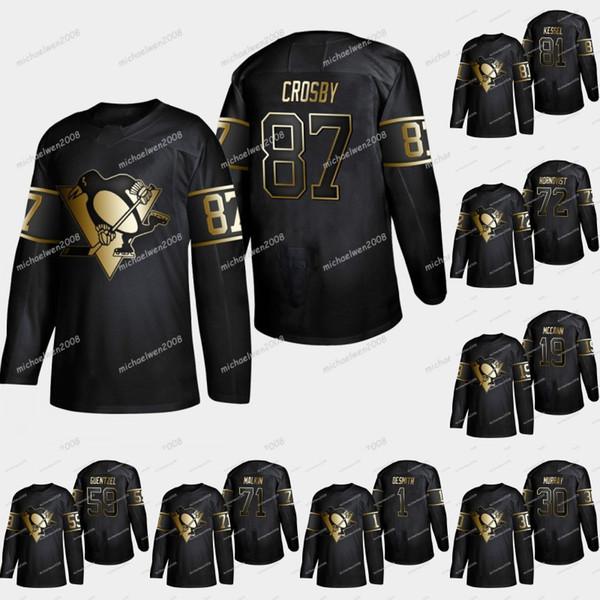 innovative design e91b0 842dc 2019 Pittsburgh Penguins 2019 Golden Edition Sidney Crosby Kris Letang  Evgeni Malkin Patric Hornqvist Phil Kessel Matt Murray Hockey Jersey From  ...