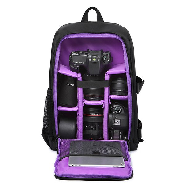 "bag for Multi-functional Waterproof w/ Rain Cover 15.6\"" Laptop Video Case Digital DSLR Photo Padded Backpack Camera Soft Bag for SLR"